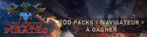 Cloud Pirates - Distribution : 200 packs « Navigateur » de Cloud Pirates à gagner