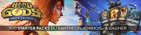Hand of the Gods - Distribution : 500 packs pour bien débuter dans Hand of the Gods: Smite Tactics