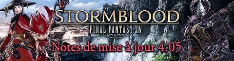 Stormblood - Les notes de mise à jour 4.05 sont en ligne