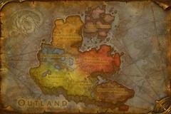 Carte de l'Outreterre (Outland)