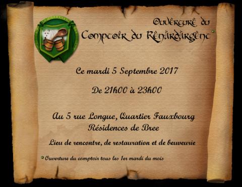 Ouverture du Comptoir du Renard d'Argent, mardi 5 septembre