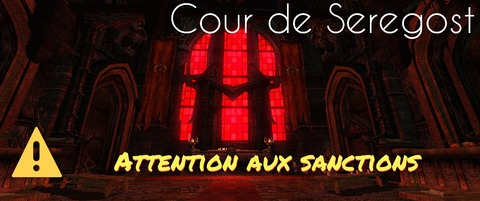 Mordor - Seregost ou la cour sanctionnable