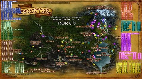 Le Seigneur des Anneaux Online - Coordonnées des pages et autres cachettes au trésor (MàJ 22)