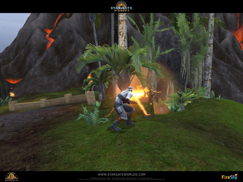 Stargate Worlds - Images de la planète Menfa et du Praxis Commando