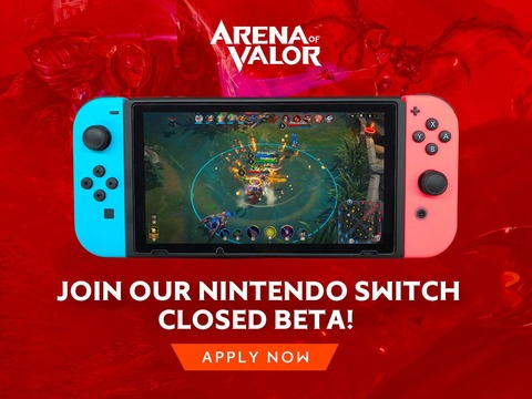 Arena of Valor - Arena of Valor recrute pour son bêta-test sur Nintendo Switch