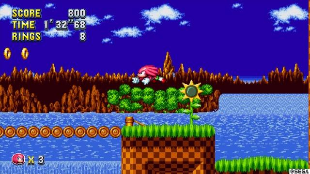 Knuckles court plus lentement et saute moins haut, mais peut planer et grimper aux murs
