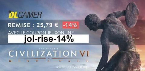 Civilization VI: Rise and Fall - Bon plan : -14% sur le prix de l'extension Civilization VI: Rise and Fall
