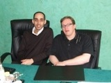 Rahim Attaba à gauche et Rowland Cox à droite