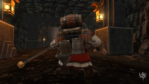 Un Nain équipé du sac à dos