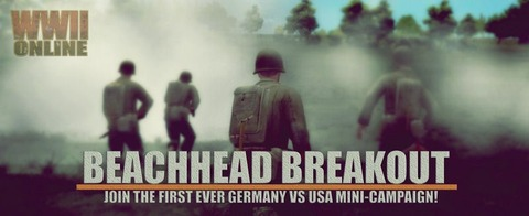 World War II Online - Mini-campagne USA V  ALLEMAGNE