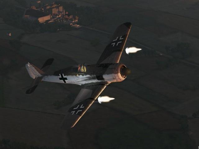 Fock Wulf 190A4 en interception