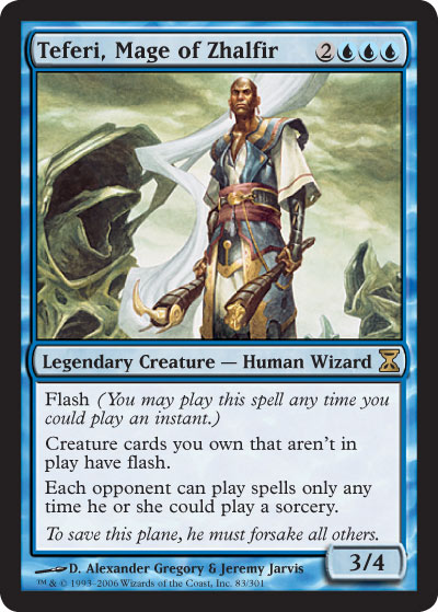 Teferi aura sa propre carte dans Magic Online : Time Spiral