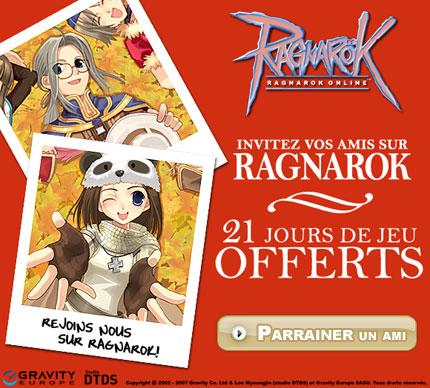 Une offre de parrainage pour Ragnarok