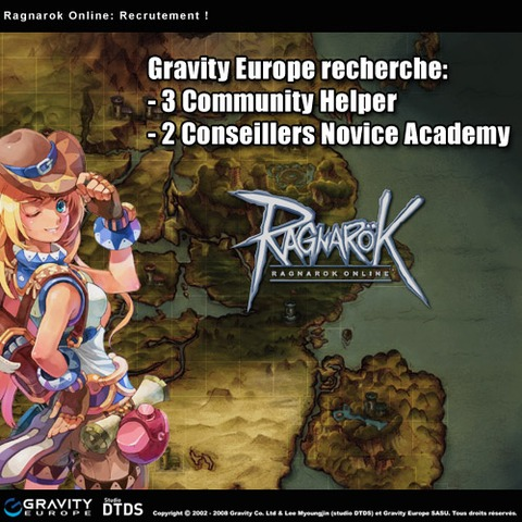Ragnarok Online - Gravity Europe recrute