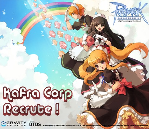 Ragnarok Online - KAFRA Corporation recrute !