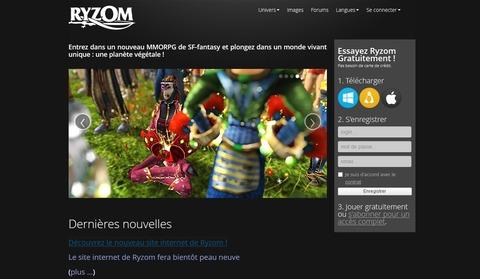 Ryzom - Le site officiel de Ryzom fait peau neuve