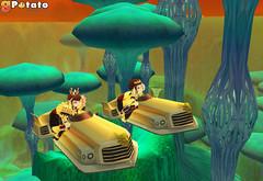 Les souverains dans leur limousine