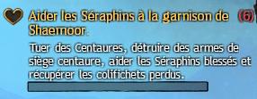 Aider les Séraphins à la garnison de Shaemoor