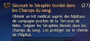 Secourir le Séraphin tombé dans les Champs de sang