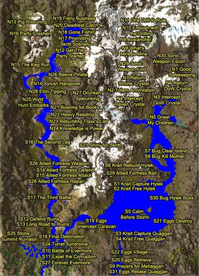"""Liste des titres des évènements planifiés de la région """"Alpine Timberland"""""""