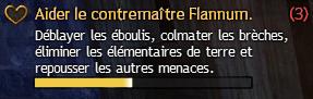Aider le contremaître Flannum