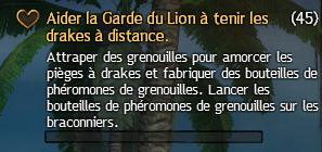 Aider la Garde du Lion à tenir les drakes à distance