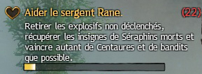 Aider le sergent Raine