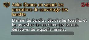Aider Dianna en sapant les opérations de sauvetage des bandits
