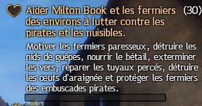 Aider Milton Book et les fermiers des environs contre les pirates et les nuisibles