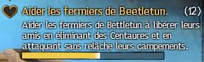 Aider les fermiers de Beetletun