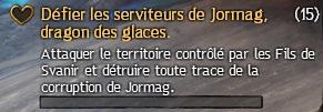 Défier les serviteurs de Jormag, dragon des glaces
