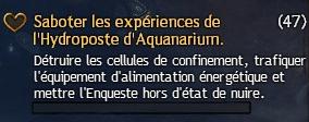 Saboter les expériences de l'Hydroposte d'Aquanarium