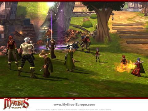 Mythos - Mythos et son équipe de communication