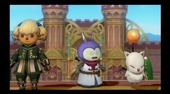 Shantotto de Final Fantasy XI et le Moogle de Final Fantasy XIVdans Dragon Quest X Online