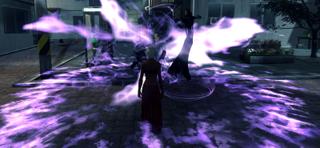 Onryo entouré de ses flammes fantomatiques