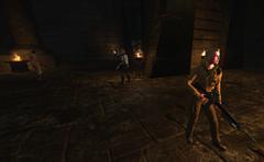 Les Maryas et Orochi pénètrent dans la Pyramide d'Akhenaton