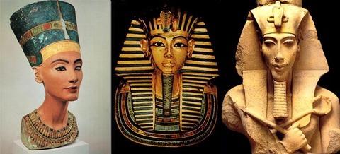 Nefertiti - Toutankamon - Akhenaton
