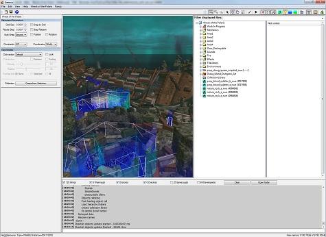 """Capture de l'outil de design de Funcom : """"Genesis"""", utilisé pour créer les environnements et placer les rencontres."""