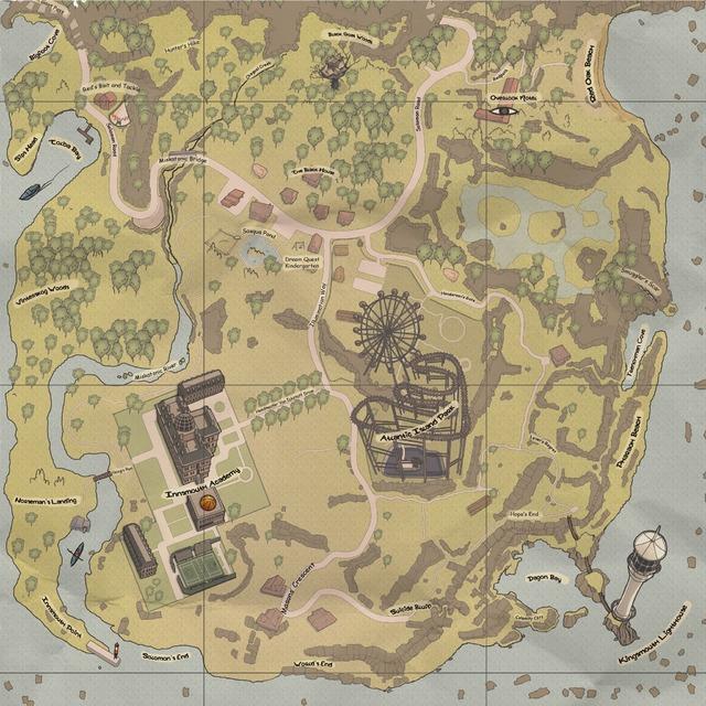 Carte de la Côte Sauvage