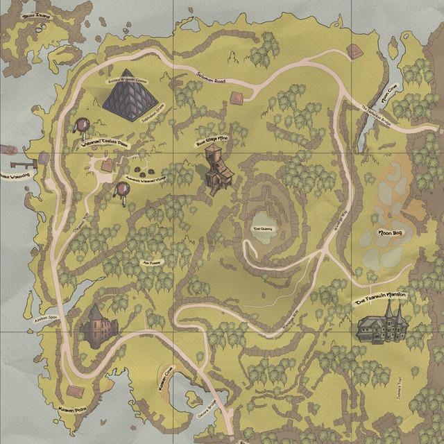 Carte de la Montagne Bleue