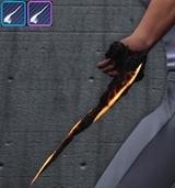 Arme de main - Enfer tourmenté - Griffes de sabre