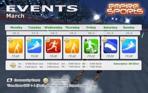 Empire of Sports - Événements de la semaine du 16 mars