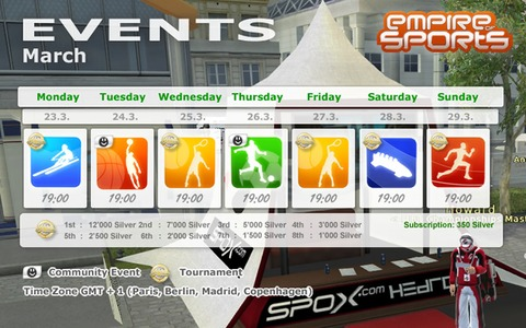 Empire of Sports - Événements de la semaine du 23 mars