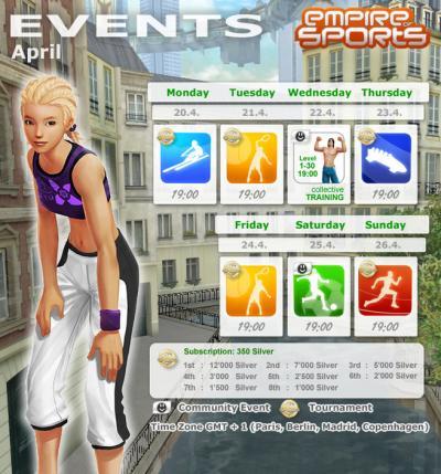 Evènements semaine du 20 avril