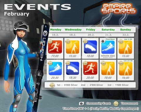 Empire of Sports - Événements de la semaine du 16 février