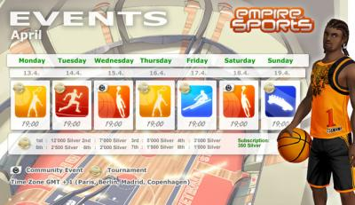 Evènements semaine du 13 avril