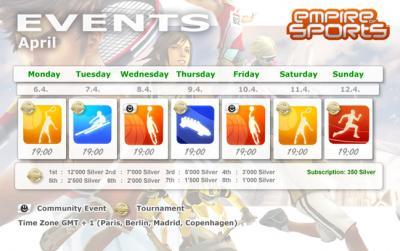 Evènements semaine du 7 avril 2009