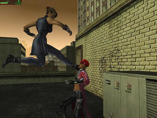 Combat sur un immeuble