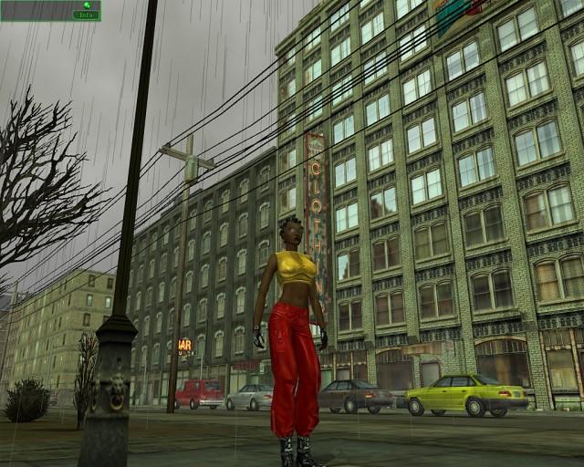 Une rue sous la pluie