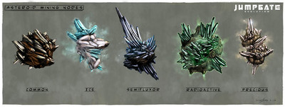 Différents types de minerais